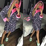 Женский мягкий плюшевый халат со звездами, фото 3