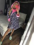 Женский мягкий плюшевый халат со звездами, фото 4
