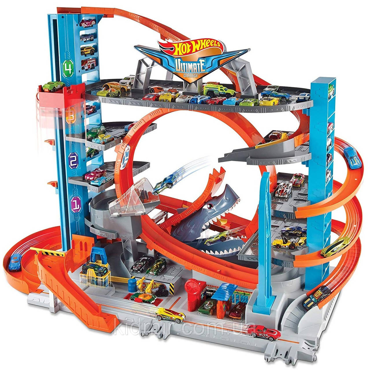 Хот Вилс Городской Гараж с Акулой Hot Wheels City Ultimate Garage FTB69