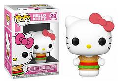 Фигурка Funko Pop Фанко Поп Привет, киска Киса бургер Hello Kitty Kitty The Burger 10 см Cartoon HK KB 29