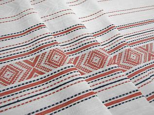 Разноцветная льняная ткань 100% лен ш.160 пл.240, цвет 986/1