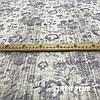 Льняная ткань с фиолетовыми цветами, 100% лен, 14с211-51-2, фото 2