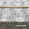 Лляна тканина з фіолетовими квітами, 100% льон, 14с211-51-2, фото 4