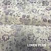 Лляна тканина з фіолетовими квітами, 100% льон, 14с211-51-2, фото 6