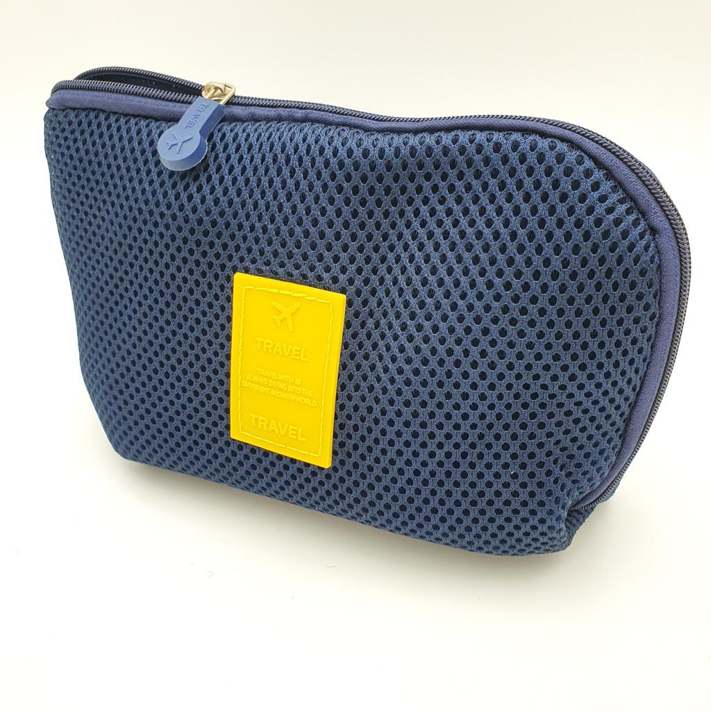 Органайзер дорожный сумочка для зарядок и кабелей TRAVEL синий