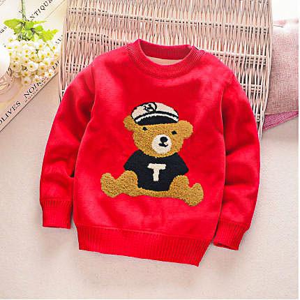Детский свитер утеплённый, плюш (рост 90)