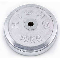 Блины (диски) хромированные d-30мм 15 кг ТА-1455