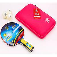 Набор для настольного тенниса (1 ракетка, 2 мяча) GIANT DRAGON MT-6541 Replika