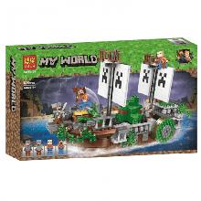 Конструктор Bela Minecraft Битва на реке 630 деталей