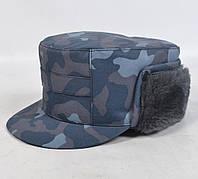 Камуфляжная мужская кепка для охраны - Омон на флисе
