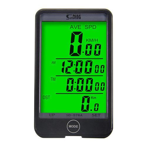 Велокомпьютер SD-576C (беспроводной) с подсветкой экрана, waterproof, 32 функций, 2.5 дисплей