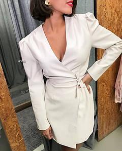 Платье женское из эко-кожи