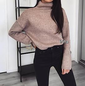 Теплый женский свитер на флисе