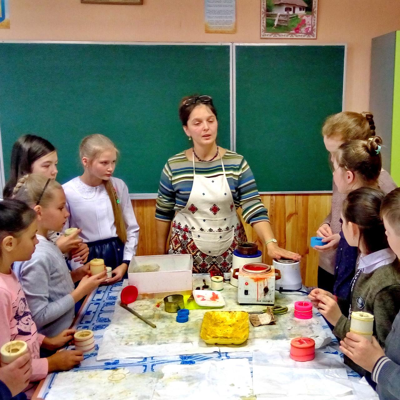 Школьный мастер-класс по изготовлению восковых свечей