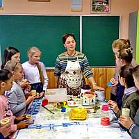 Шкільний майстер-клас по виготовленню воскових свічок; Школьный мастер-класс по изготовлению восковых свечей