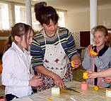 Школьный мастер-класс по изготовлению восковых свечей, фото 6