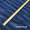 Синя лляна тканина в смужку з 100 % льону 15с432-1-369, фото 3