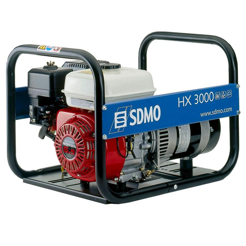 Однофазный бензиновый генератор SDMO HX 3000-S (3 кВт)