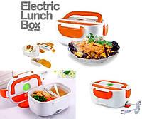Ланч бокс с подогревом Судочек контейнер пищевой Термос для еды 220в оранжевый, фото 1