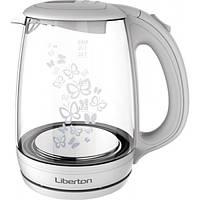 Чайник LIBERTON LEK-1703 White (стекло)