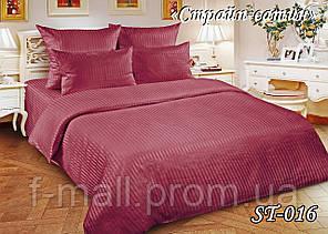 Комплект постельного белья Тет-А-Тет ( Украина ) двуспальное Страйп сатин фуксия (ST-016)
