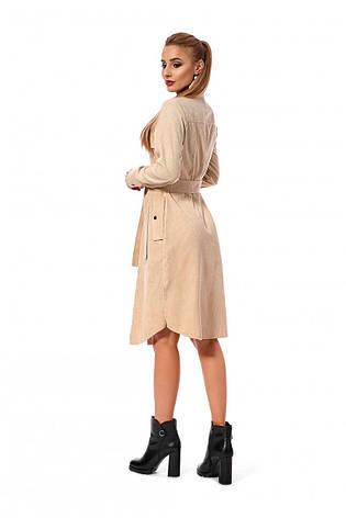Елегантне вельветове сукня-сорочка зі з'ємним поясом 46-50, фото 2