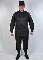 Однотоный черный костюм для охраны