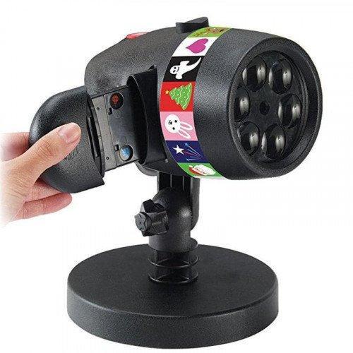 Лазерный проектор стробоскоп для подсветки дома и помещений 12 рисунков слайдов тем Star Shower Slide Show