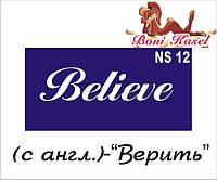 """""""Верить"""" трафаретная надпись  №-NS12"""