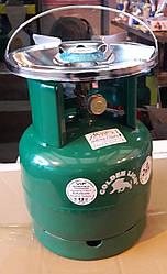 Туристический газовый баллон-пикник Rudyy - Golden Lion VIP с горелкой объемом 5 литров