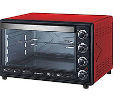 Электродуховка LIBERTON LEO-650 Red (65л, конвекция, вертел, подсветка)