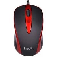 Проводная оптическая мышка Havit HVMS675 Red gr005415, КОД: 1131011