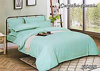 Комплект постельного белья Тет-А-Тет ( Украина ) евро Страйп сатин светлая бирюза (ST-023)