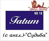 """""""Судьба"""" трафаретная надпись  №-NS18"""