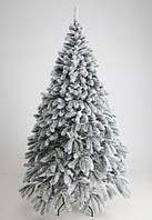 Якісна штучна ялинка лита Президентська в снігу
