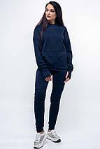 Женский свободный свитшот с капюшоном и карманами (Рокси ri), фото 3