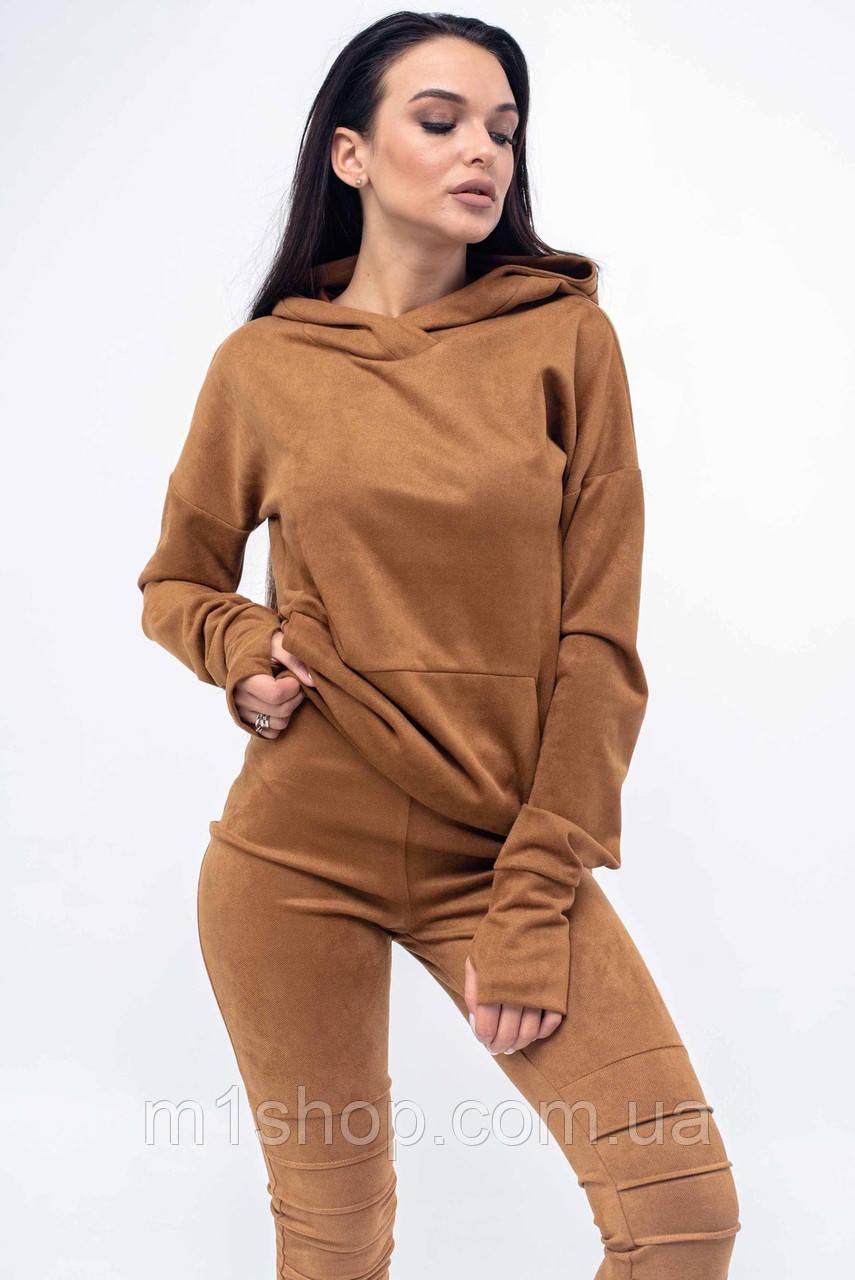 Женский свободный свитшот с капюшоном и карманами (Рокси ri)