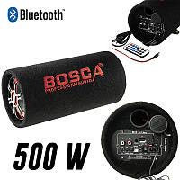 """Колонка беспроводная Сабвуфер 5"""" Bluetooth FM 12В и 220В 500W BOSCA черная, фото 1"""