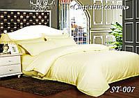 Комплект постельного белья Тет-А-Тет ( Украина ) евро Страйп сатин ваниль (ST-07)
