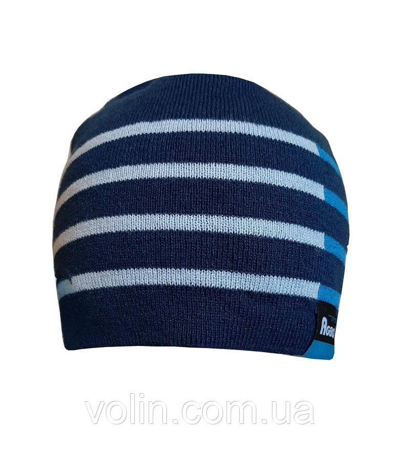 Тёплая мужская вязаная шапка Agbo Kris.