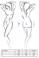 Сексуальные трусики-шортики LIZZY SHORT black S/M - Passion. Трусики
