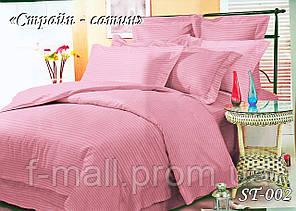 Комплект постільної білизни Тет-А-Тет ( Україна ) євро Страйп сатин рожевий (ST-02)