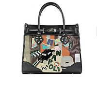 Стильная женская сумка Неаполь, Италия, 36*30*12 см.