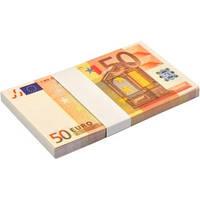 Сувенирные деньги 50 Евро. Пачка подарочных Евро (80 шт.)