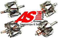 Ротор (якорь) генератора Audi. Ауди. Детали генераторов AS.