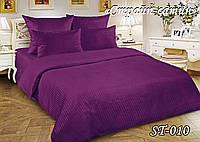 Комплект постельного белья Тет-А-Тет ( Украина ) двуспальное Страйп сатин фиолетовый (ST-010)