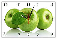 """Настенные часы МДФ кухонные кварцевые """"Яблоки"""""""