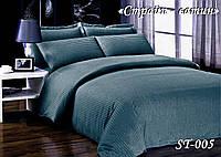 Комплект постельного белья Тет-А-Тет ( Украина ) двуспальное Страйп сатин графит (ST-05)