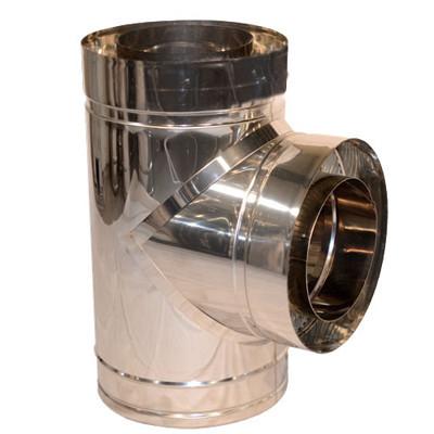 Тройник дымоходный 90° нерж/нерж ø300/360мм