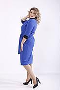 ❤/ Женское платье электрик с поясом 01357 / Размер 42-72 / Батал, фото 4